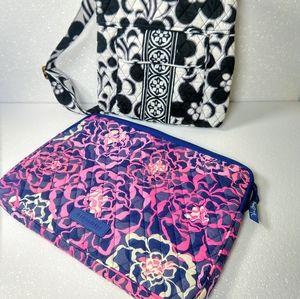 Vera Bradley laptop sleeve and messenger bag